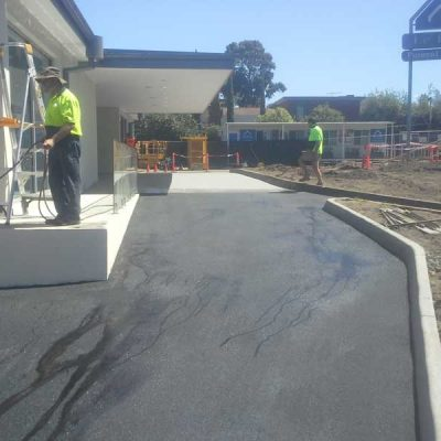 Asphalt paving car park commercial.